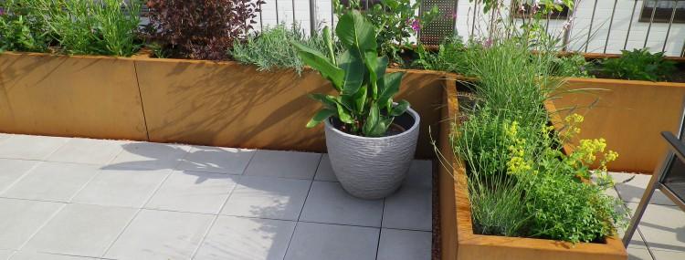 Corten Stahl Terrassengestaltung