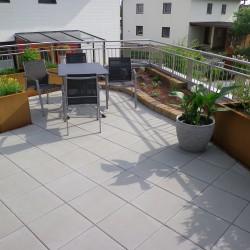 Dachterrasse Plattenverlegung