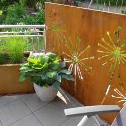 Sichtschutz Metall mit Motiv