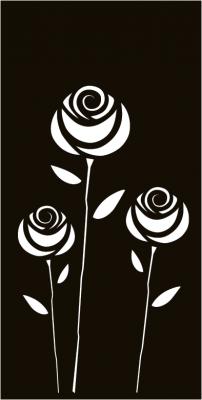 Roses - Sichtschutzmotiv Terrasse