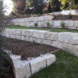 Natursteinmauer Wels