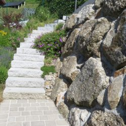 Garten Blockstufen