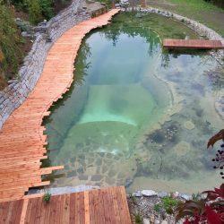 Schwimmteich in Bau